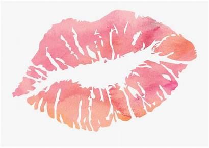 Lips Lip Clip Drawing Transparent Clipart Watercolor