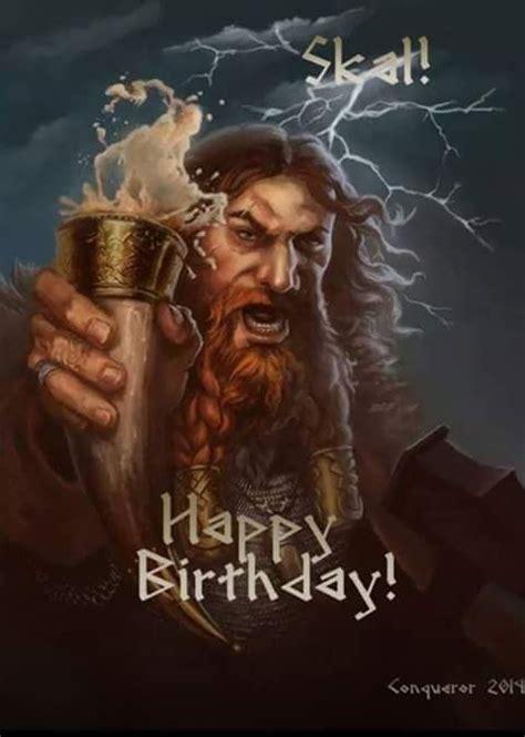 happy birthday card viking style krasse zitate