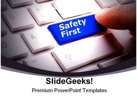 safety  computer powerpoint backgrounds  templates