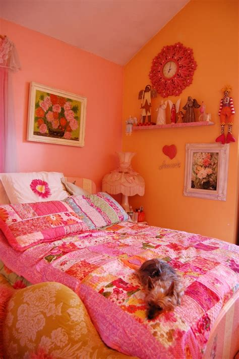 bedroom colors pink this is a shot of my pink and orange bedroom i just love 10360 | 76917183ac8b6ee51c0f667f1aa7215e pink bedrooms room photo