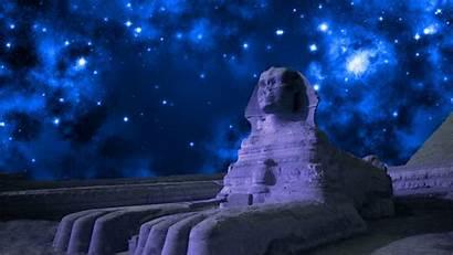 Sphinx Giza Esfinge Egipto Gran Sternenhimmel Hintergrund