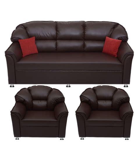 home furniture sofa set price bharat lifestyle riyan leatherette 3 1 1 sofa set snapdeal