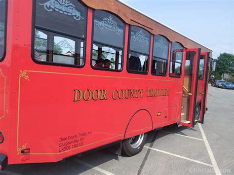 door county trolley door county jul 14 kris and christiandoor
