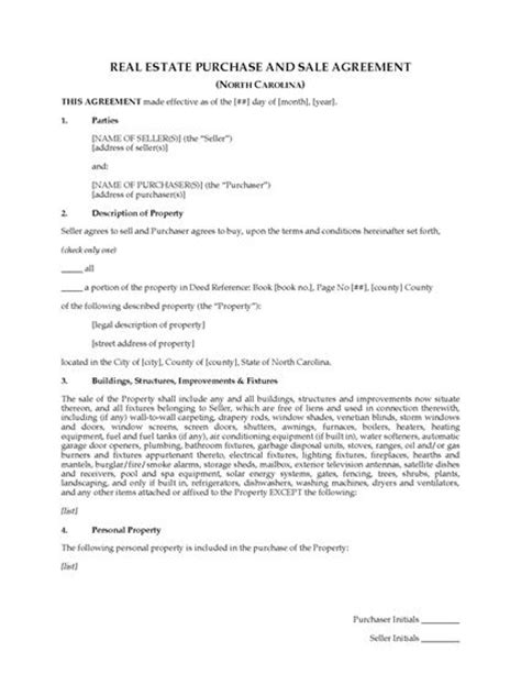 colorado real estate purchase agreement simple form north carolina real estate purchase and sale agreement