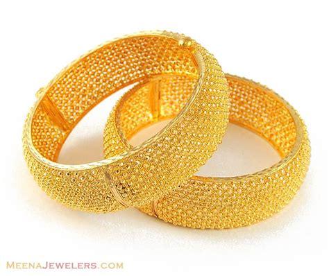 22k gold jewelry designs 22k gold wide bangle kara