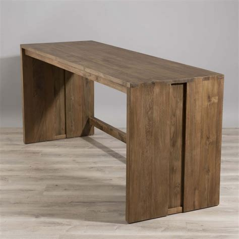 bureau en teck bureau bois teck 180x60 tinesixe