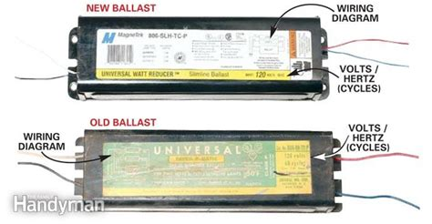 how to replace a fluorescent light ballast the family