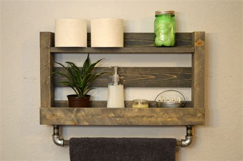 Bathroom Shelf With Towel Bar Wood by Chandeliers Pendant Lights