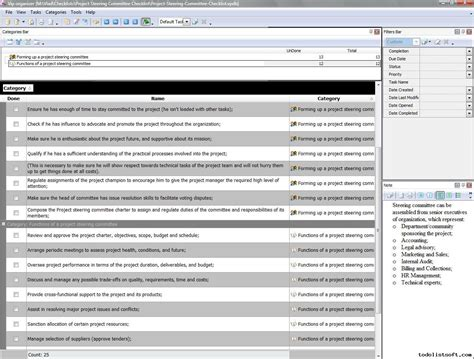project management steering committee agenda template