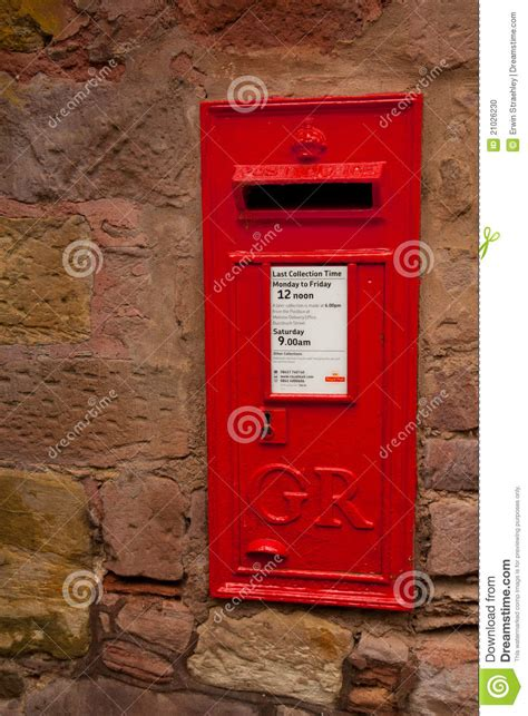 Iconic English Post Box stock photo. Image of traditional ...