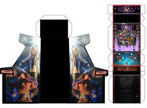 ultimate mortal kombat 3 papercraft arcade cabinet by