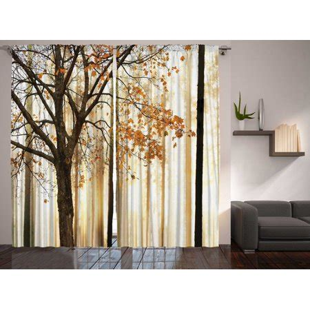 fall trees abstract art bedroom living room curtains