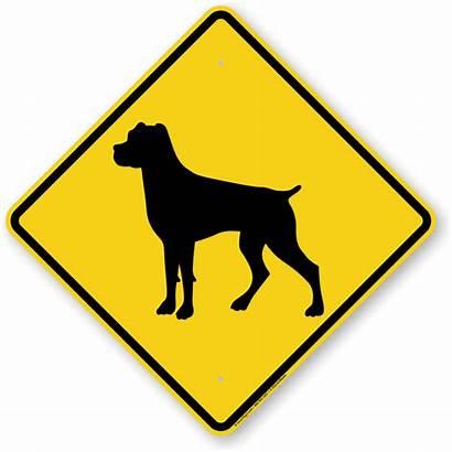 Rottweiler Dog Symbol Guard Signs Beware Crossing