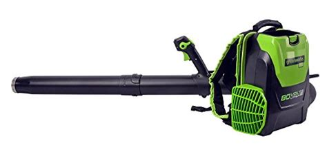 cordless leaf blower with battery and charger greenworks bpb80l2510 80v 145mph 580cfm cordless