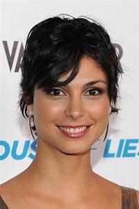 Morena Baccarin Shaggy Layered Short Black Haircut ...