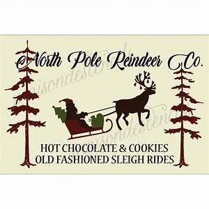 North, Pole, Reindeer, Co, 12x18, Stencil
