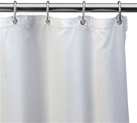 hotel white fabric 54 inch x 78 inch shower stall curtain