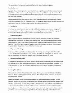 Contract negotiation tips for Negotiation contract template