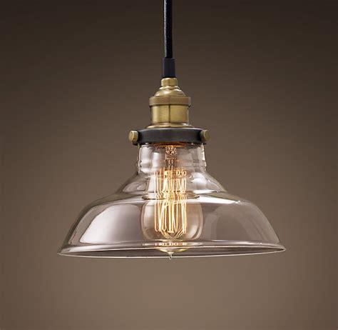 restoration hardware pendant lights 20th c factory filament clear glass barn pendant