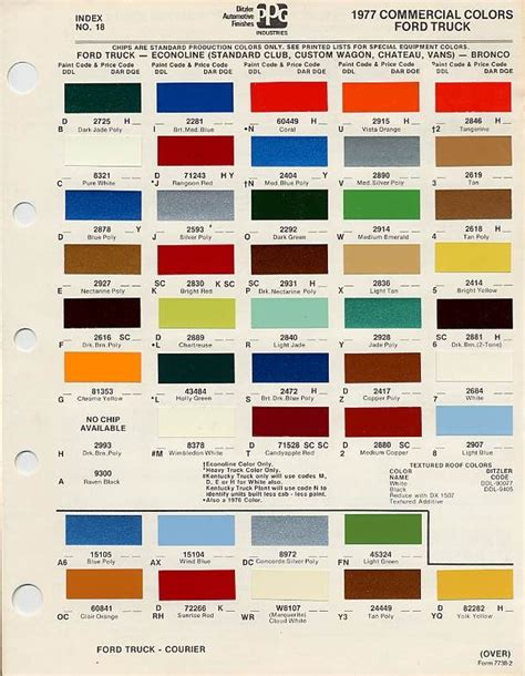 paint decode ford truck enthusiasts forums trucks