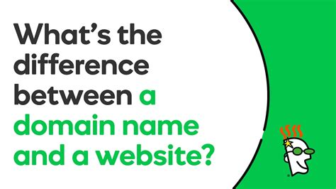 What Is The Difference Between A Domain Name And A Website?  Godaddy Youtube