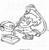 Vacuum Coloring Cartoon Cleaner Boy Outline Using Happy Chores Clean Vector Clipart Royalty Printable Sheet Getcolorings Leishman Ron sketch template