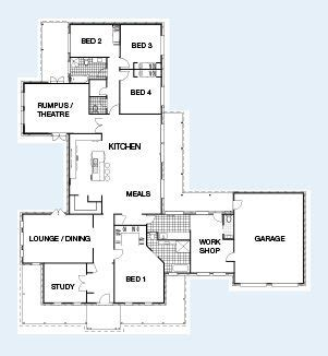 franklin floorplan br study  sqm living area
