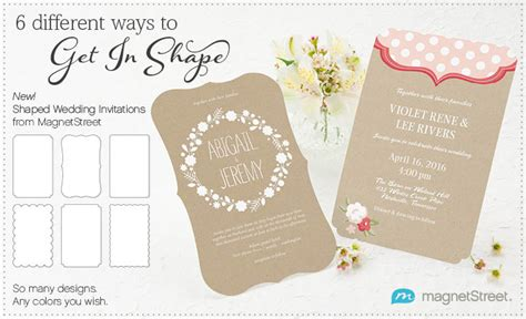 shaped wedding invitations  magnetstreetshaped wedding