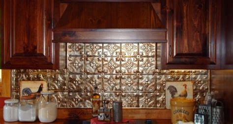 Classic Home Punched Style by Punched Tin Backsplash Stove Kitchen Fan Of