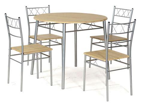 table ronde et chaises ensemble table ronde et 4 chaises de cuisine lota coloris