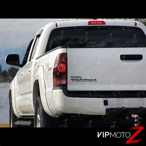 2010 tacoma tail lights pair 2005 2008 toyota tacoma factory style red smoke