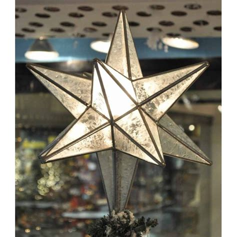 tree topper moravian star lighted tree topper glass starry