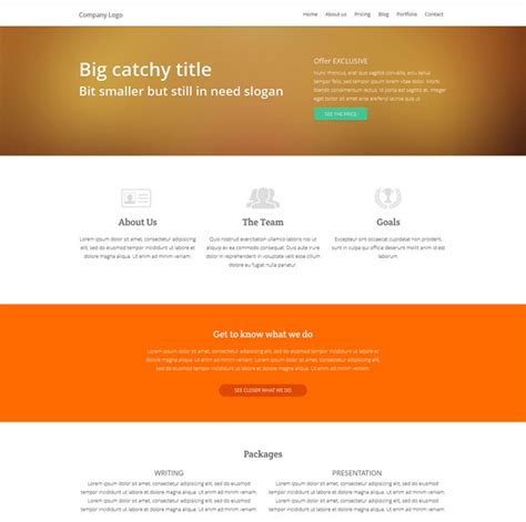 simple html5 template templates simple clean responsive html5 css3 template
