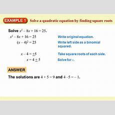 4 5 Practice Quadratic Equations Tessshebaylo