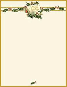 Vintage Christmas Holly Letterhead - 80 Sheets