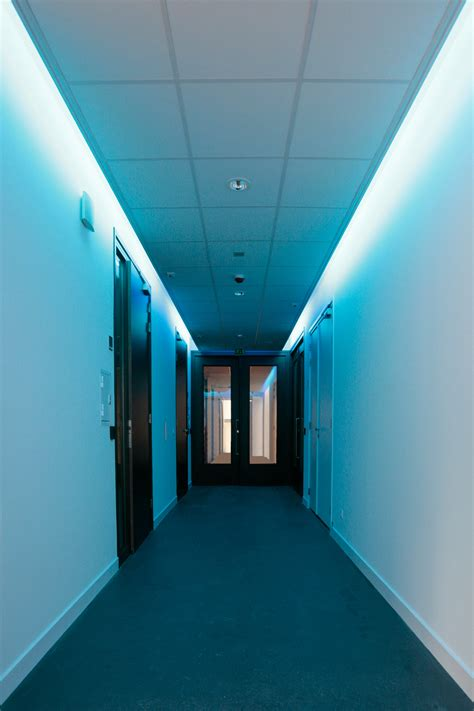 creative blue false ceiling ls for modern hallway