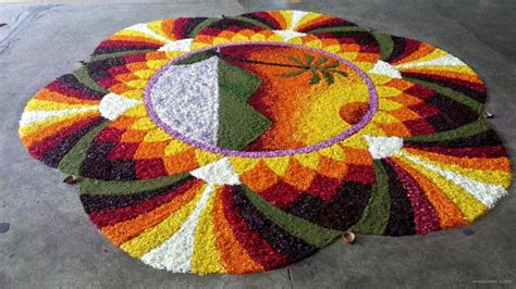 beautiful pookalam designs  onam festival part