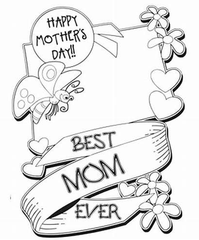 Coloring Mothers Pages Happy Printable Mother Sheets