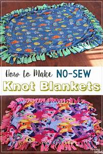 How to Make a Fleece Knot Blanket Thriving Home