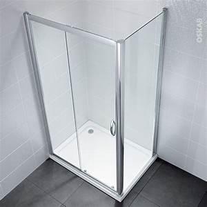 porte de douche coulissante olympe 120 cm verre With porte de douche coulissante avec oskab meuble salle de bain