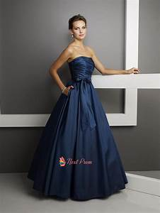 Navy Blue Long Chiffon Prom Dresses | Next Prom Dresses