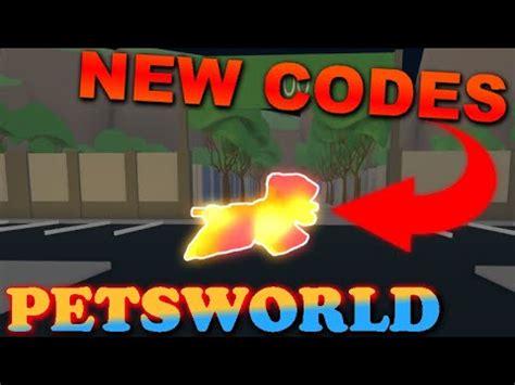 codes petsworld roblox youtube