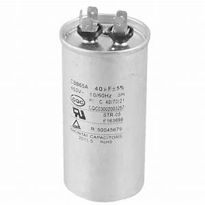 He527 Cbb65a 450v Ac 50  60hz 40uf 5  Round Electric Motor