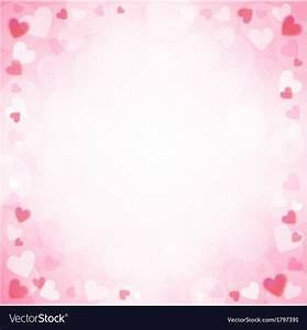 Background with pink hearts Royalty Free Vector Image