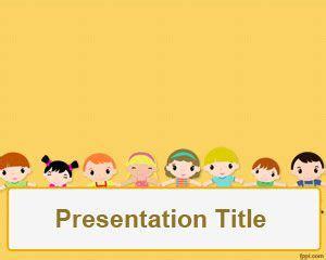 children powerpoint template  kids