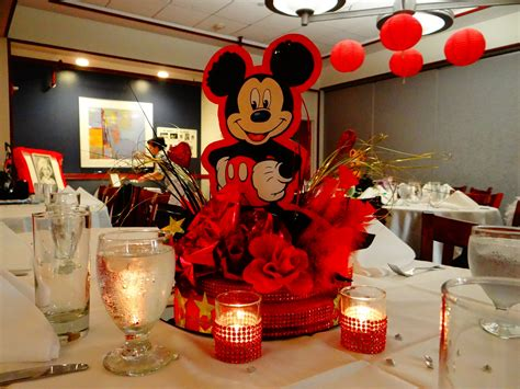 This Centerpiece Was Done For A Disneyland Themed Sweet 16