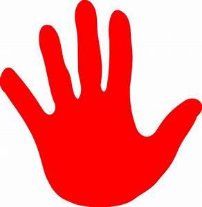 Red Hand Print Clip Art