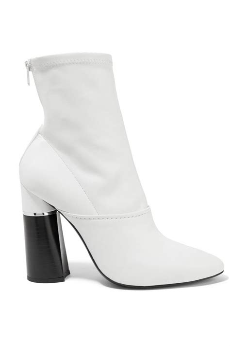 phillip lim womens kyoto leather sock boots white