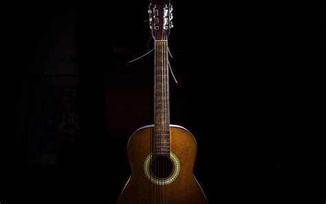 wallpaper guitar black background  hd picture image