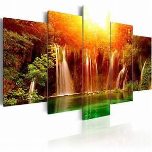 Bilder Natur Leinwand : leinwand bilder xxl kunstdruck wandbild natur wasserfall landschaft 9050037 ebay ~ Markanthonyermac.com Haus und Dekorationen